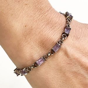 Jewelry - Sterling silver and amethyst tennis bracelet